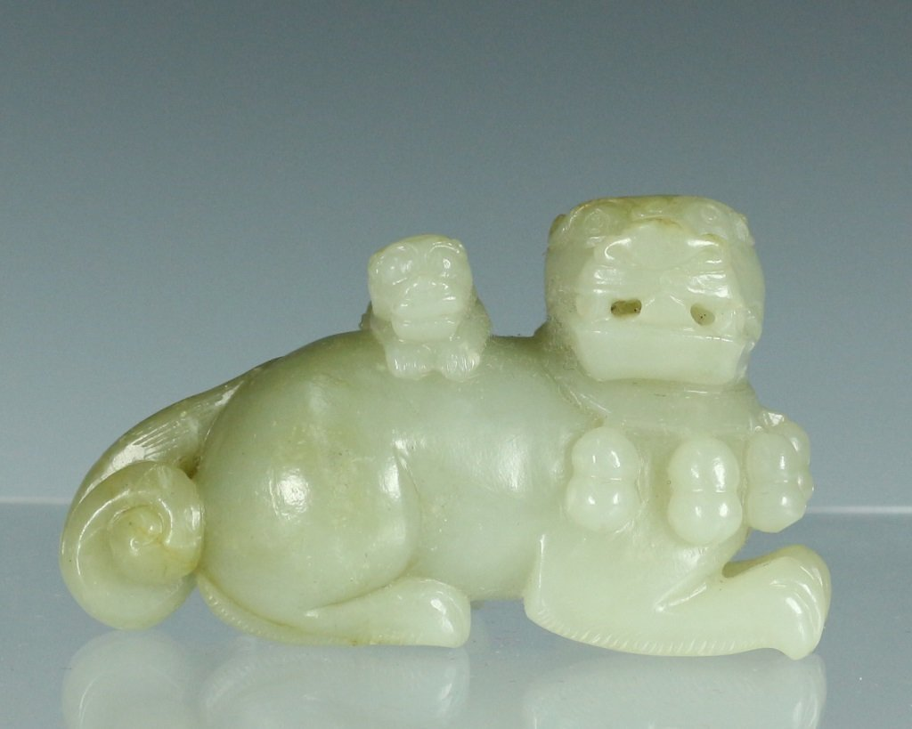 Lions Form Jade Pendant