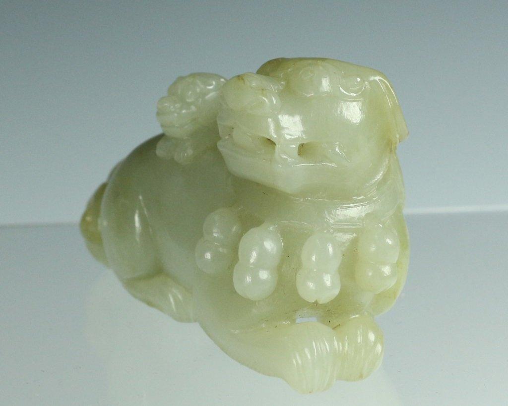 Lions Form Jade Pendant - 4