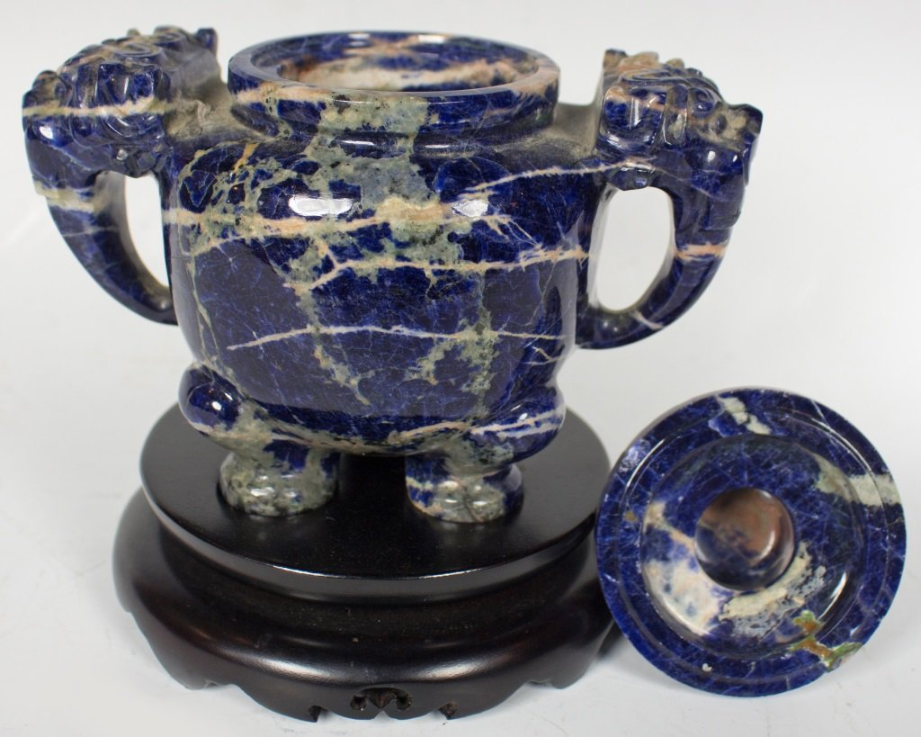 Lapis Incense Burner with Cover - 5