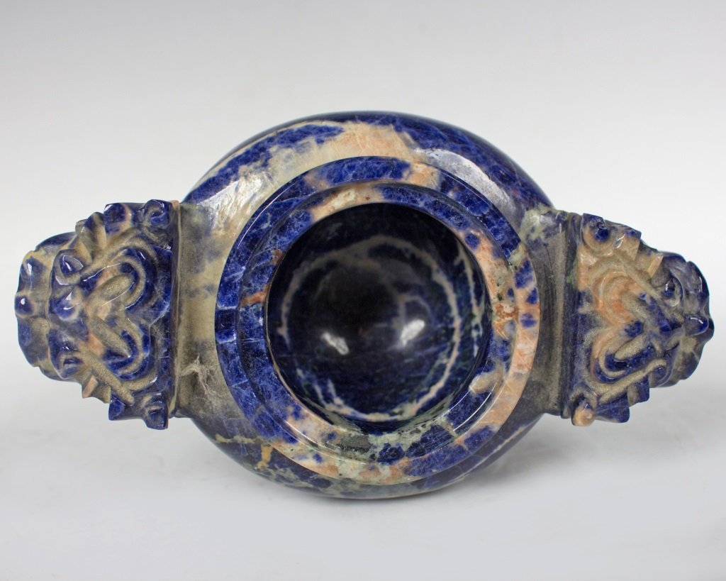 Lapis Incense Burner with Cover - 6