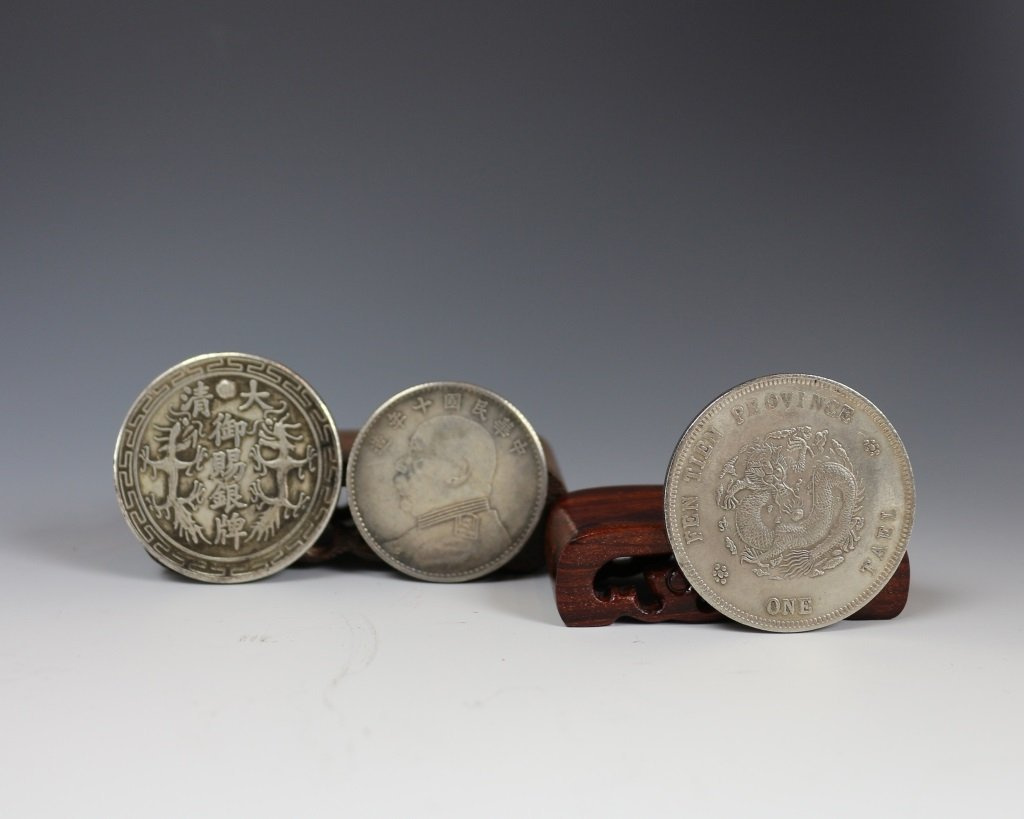 THREE PIECES CHINESE COINS