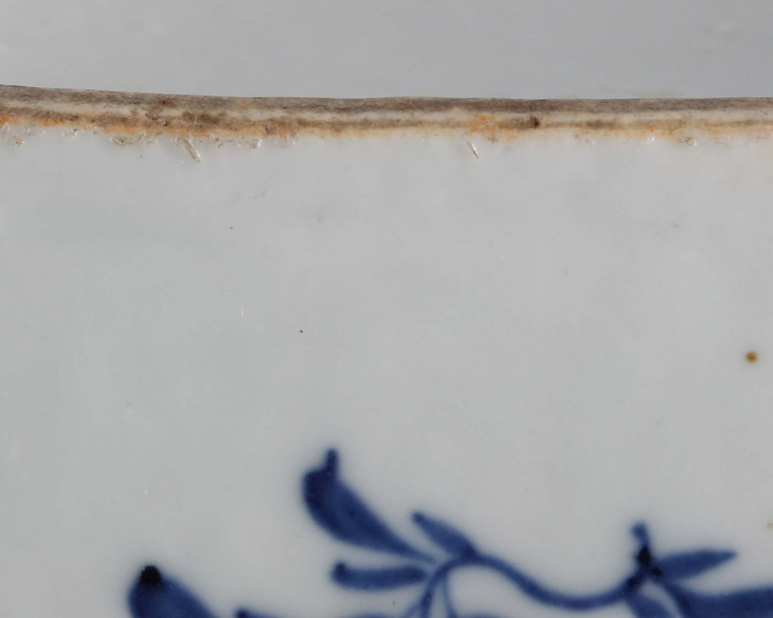 LATE QING BLUE & WHITE SQUARE COVER BOWL - 6