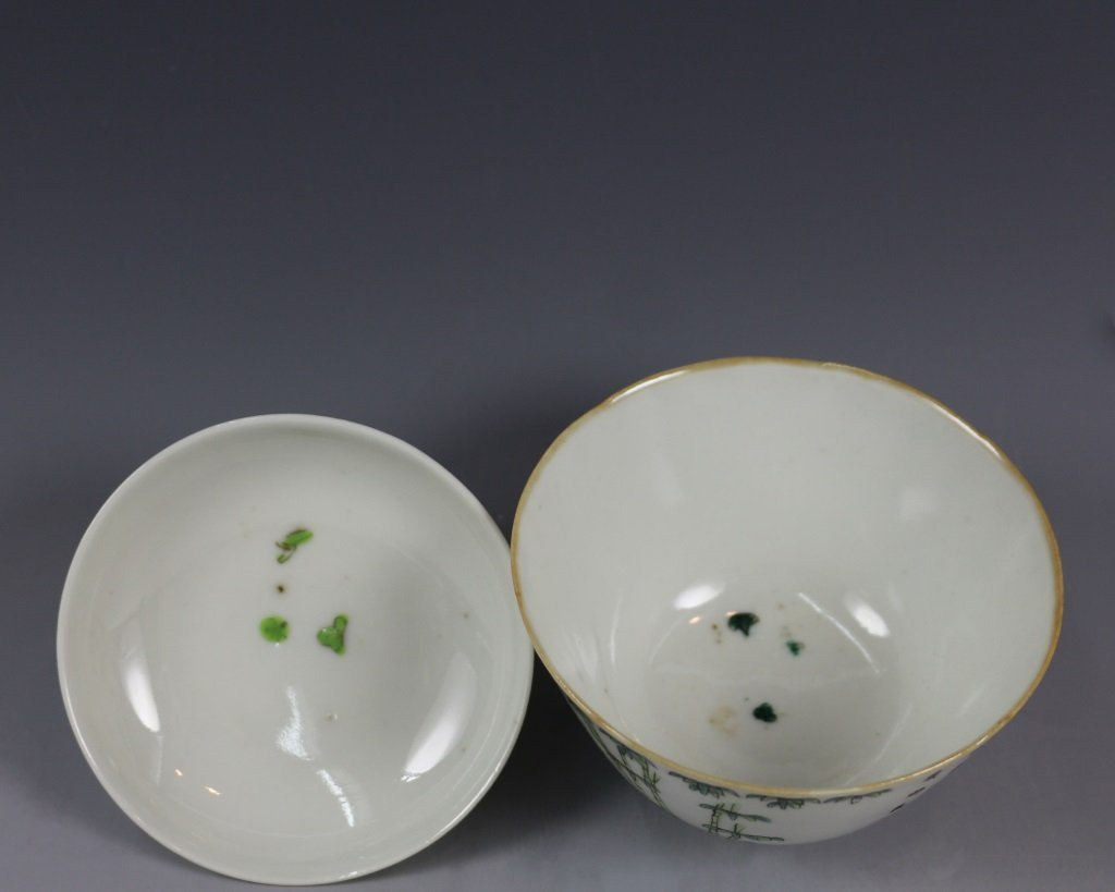 PAIR OF TEABOWLS WITH COVERS - 5