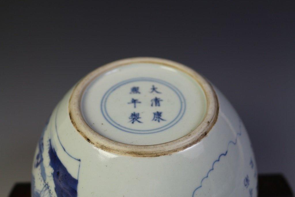 DAQING KANGXI NIANZHI MARK BLUE & WHITE VASE - 10