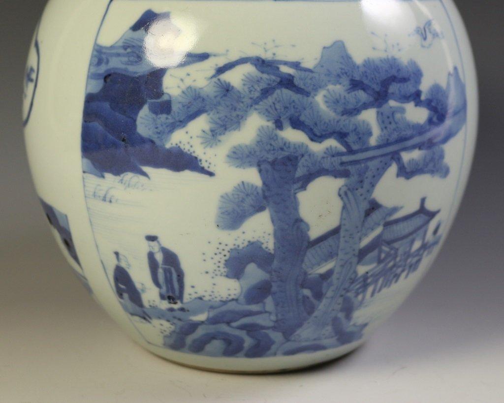 DAQING KANGXI NIANZHI MARK BLUE & WHITE VASE - 5