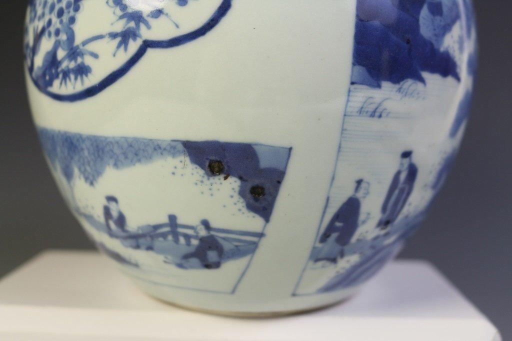DAQING KANGXI NIANZHI MARK BLUE & WHITE VASE - 6