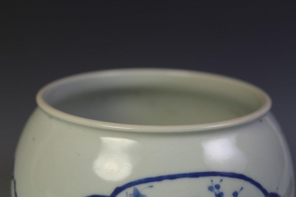DAQING KANGXI NIANZHI MARK BLUE & WHITE VASE - 8