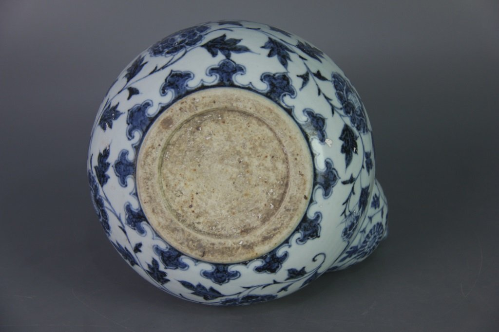 EARLY MING BLUE&WHITE POT - 10
