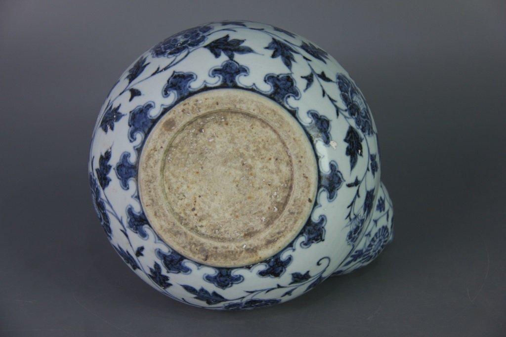 EARLY MING BLUE&WHITE POT - 10