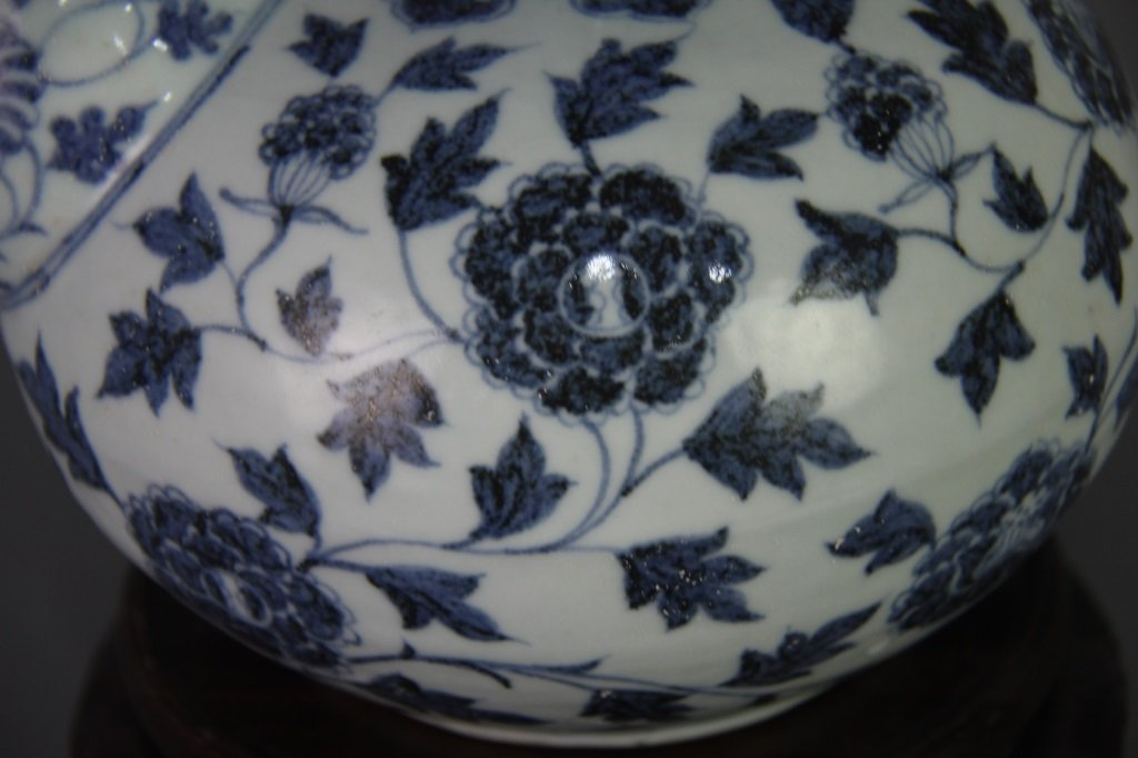 EARLY MING BLUE&WHITE POT - 5