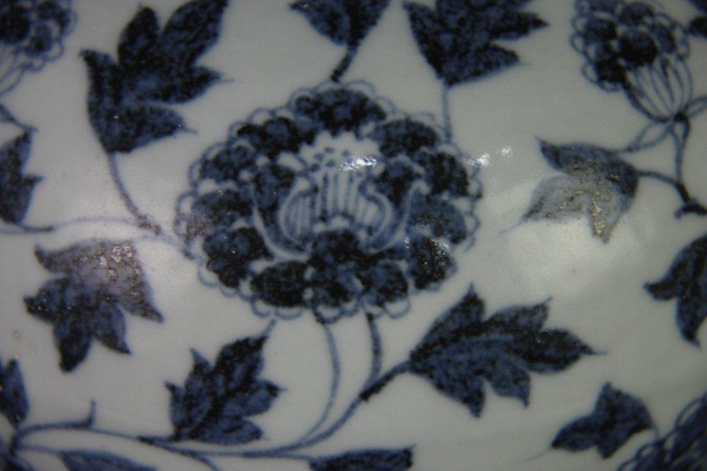 EARLY MING BLUE&WHITE POT - 9