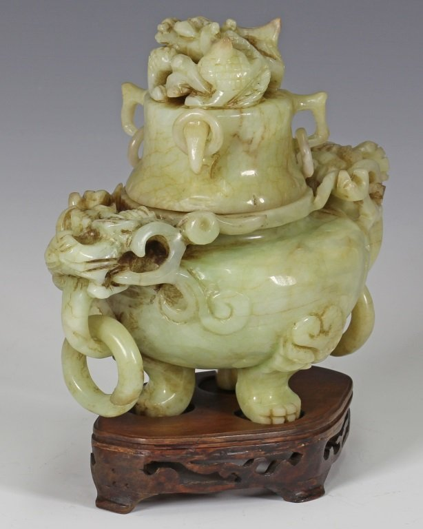 Xiu Jade Incense Burner - 2