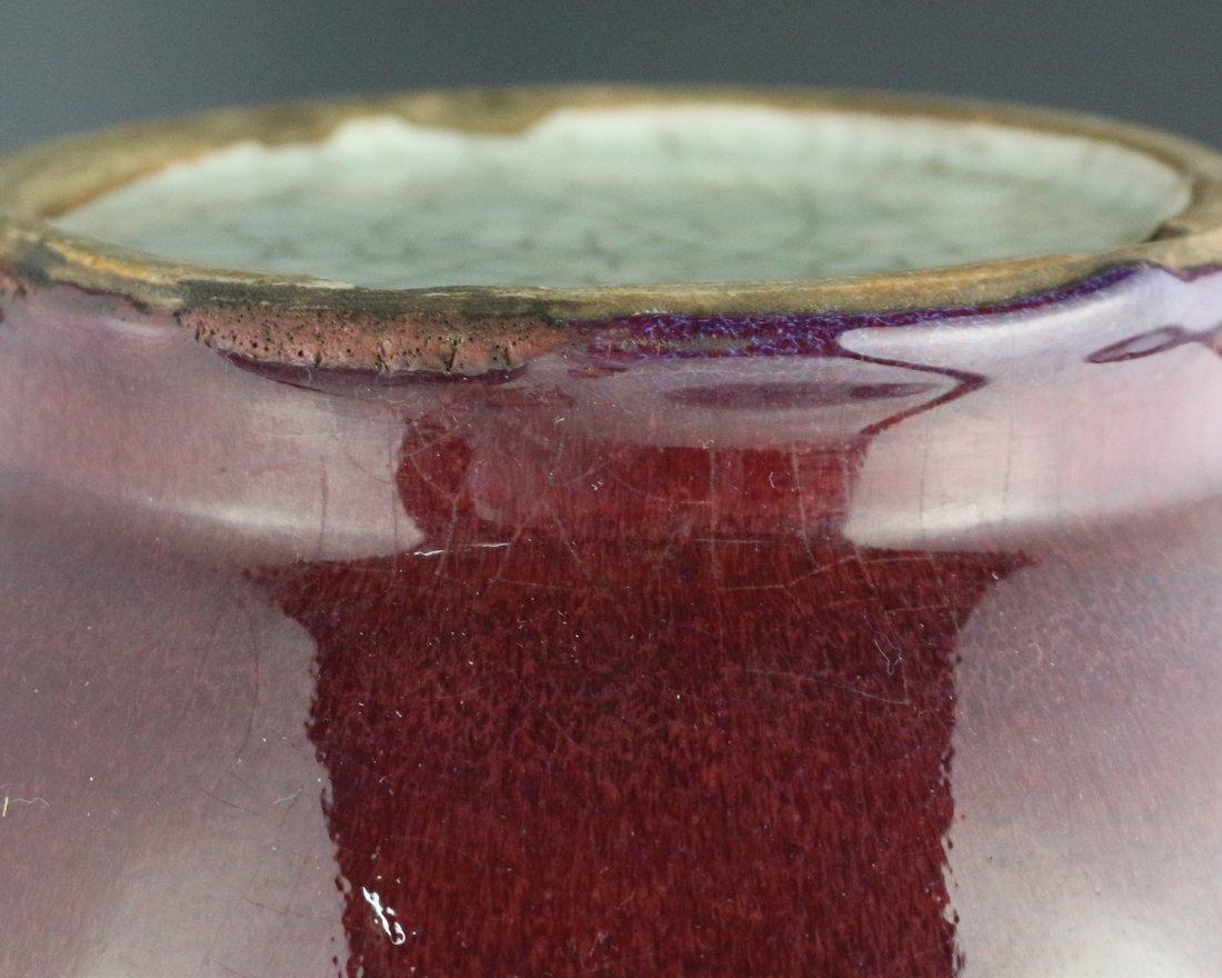 RED GLAZE DOUBLE-GOURD VASE - 3
