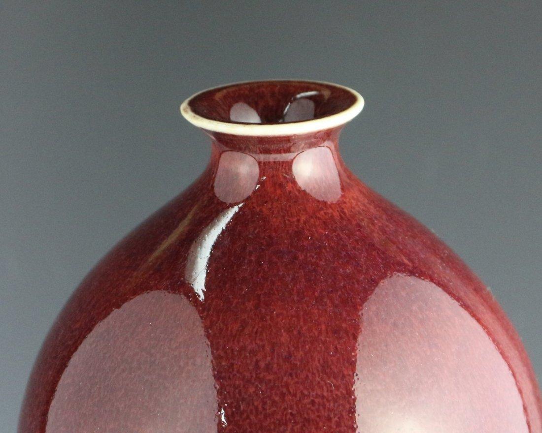 RED GLAZE DOUBLE-GOURD VASE - 8