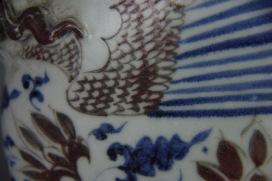 YUAN BLUE&WHITE PHOENIX HEAD UWER - 6