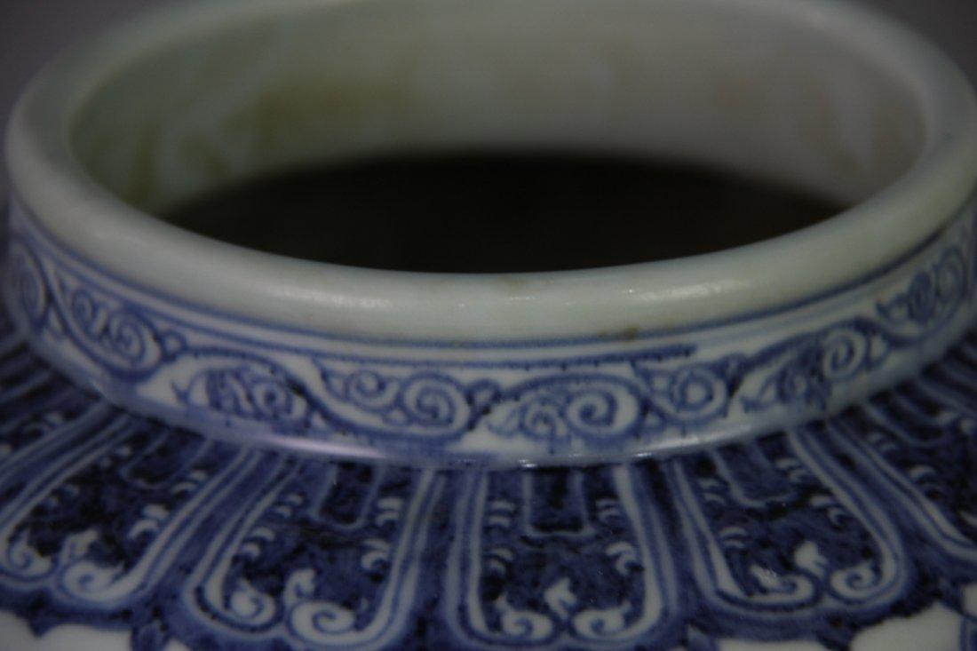 MING XUANDE MARK BLUE&WHITE JAR - 7