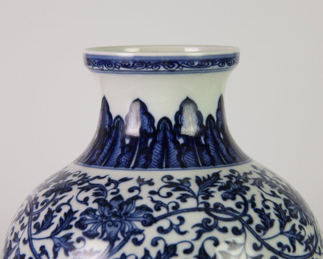 YONGZHENG MARK BLUE&WHITE LOTUS JAR - 5