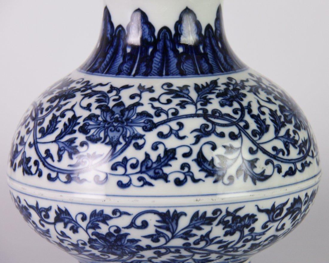 YONGZHENG MARK BLUE&WHITE LOTUS JAR - 6