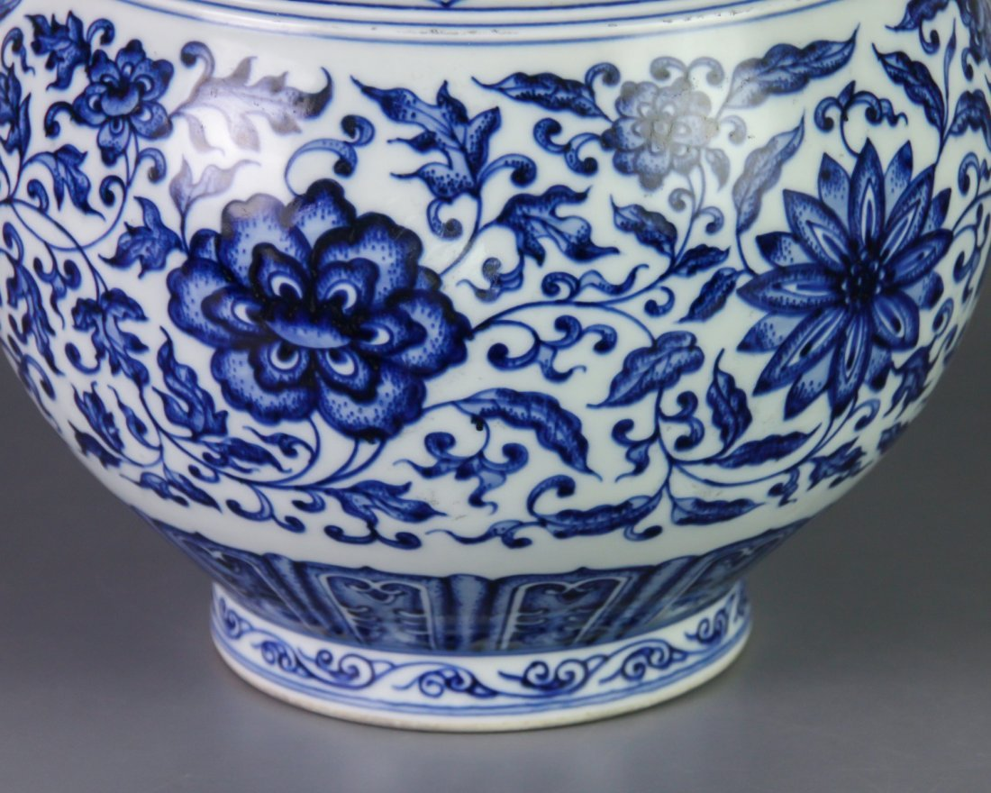 DAQING QIANLONG NIANZHI MARK BLUE&WHITE BOTTLE VASE - 7