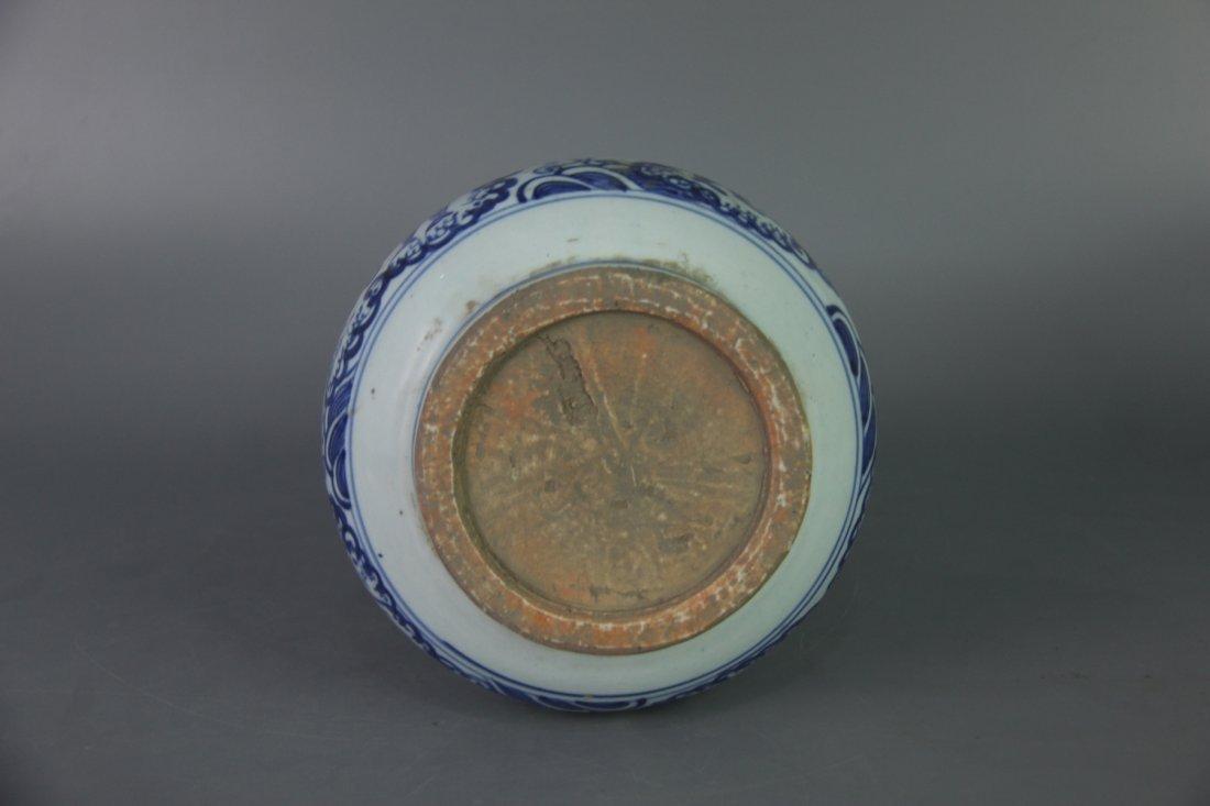 PAIR OF MING BLUE&WHITE GARLIC HEAD VASES - 10