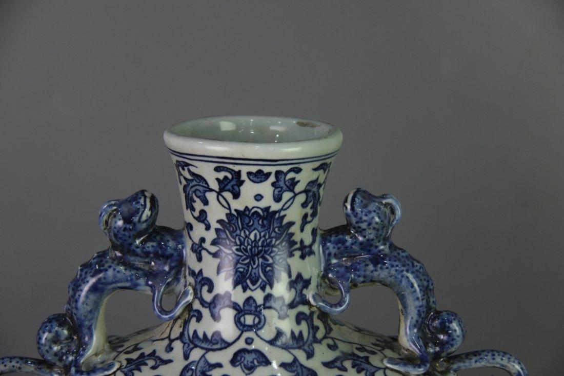 QING QIANLONG MARK BLUE&WHITE MOON-FLASK VASE - 2