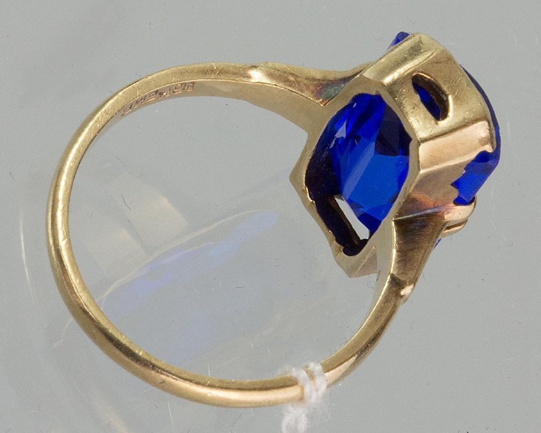 10K GOLD SAPPHIRE RING - 2