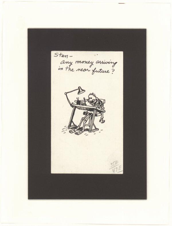 1: Gary Larson drawing original comic art