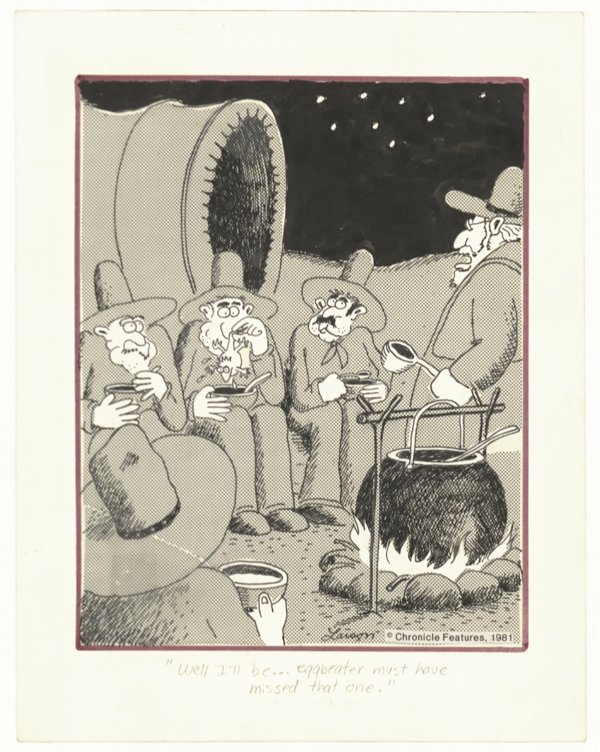 2: Gary Larson Far Side daily 1981 original comic art