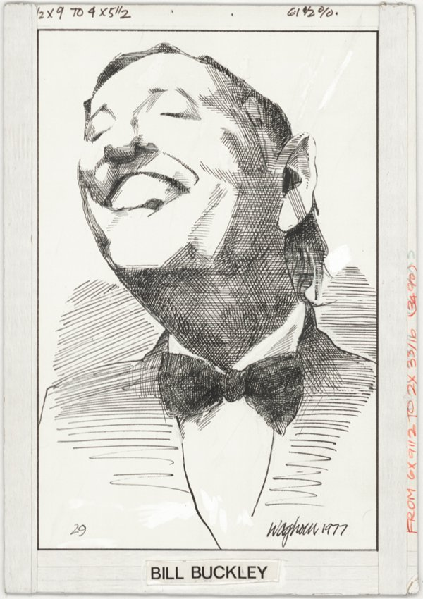 6: Waghorn caricature Bill Buckley original comic art