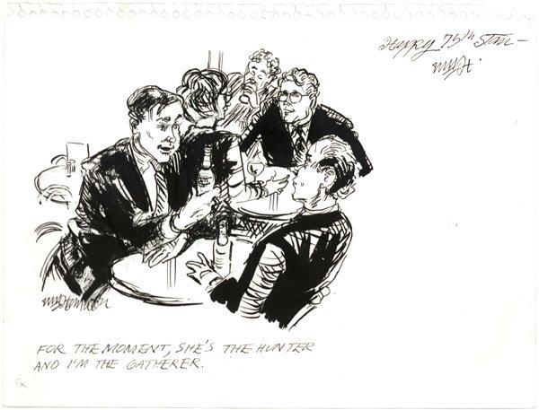 9: Wm Hamilton pen and ink original art