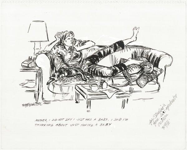 10: Wm Hamilton pen and ink original art