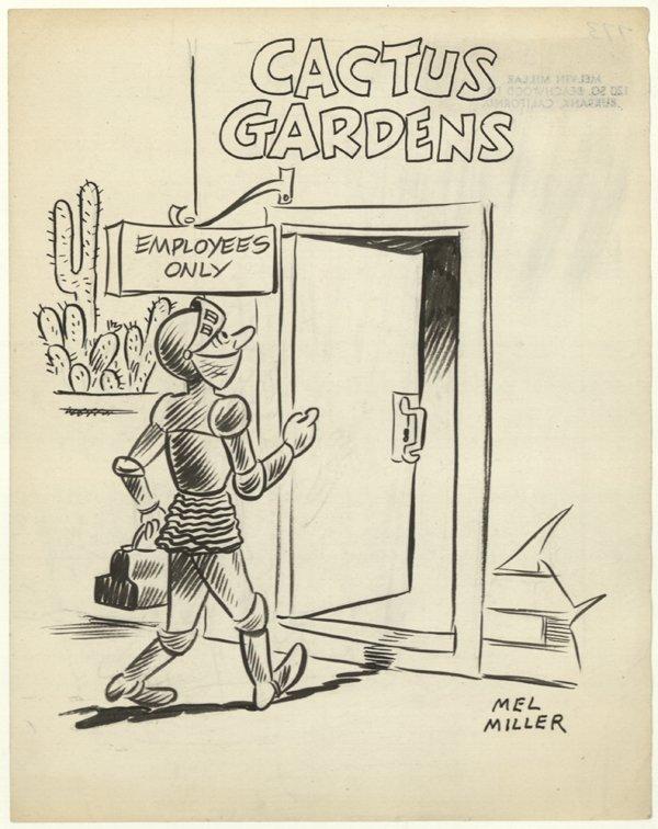 11: Mel Miller unpublished cartoon original comic art