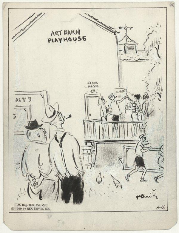 13: Galbraith Side Glances 1959 original comic art