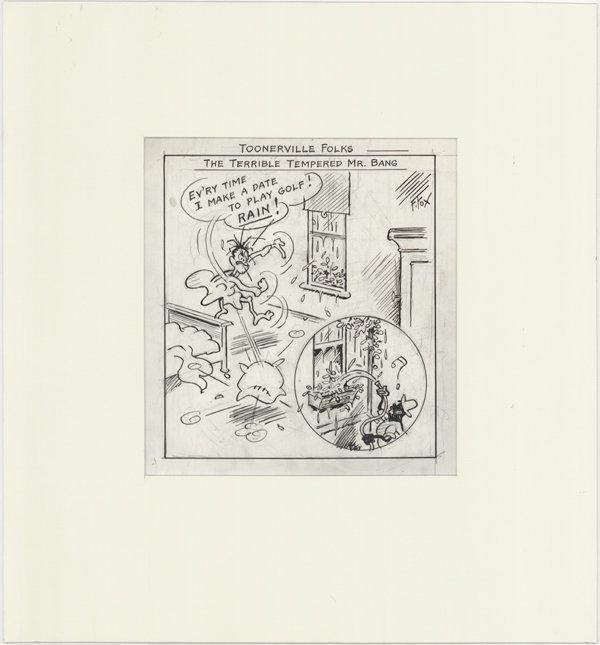 14: F Fox Toonerville Folks daily original comic art