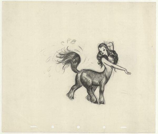 18: Pencil Fantasia centaurette original comic art