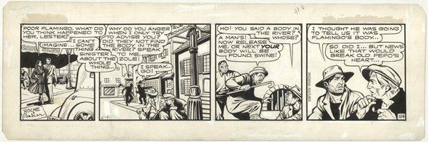 57: Matt Baker Flamingo #104 6/9/40s original comic art