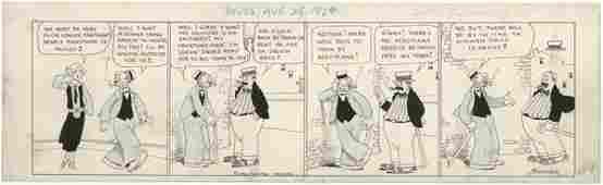100: Branner Winnie Winkle daily 1924 originl comic art