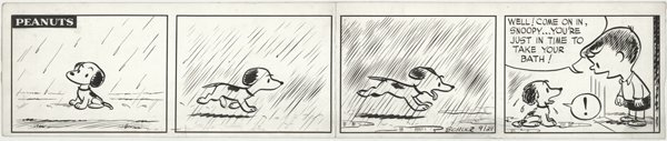 146: Schulz Peanuts daily 9/29/51 original comic art