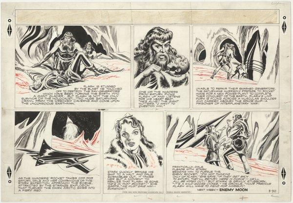 221: Raboy Flash Gordon Sun 3/30/52 original comic art