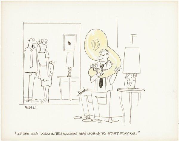 1: Cavalli 3 cartoons + 5 roughs original comic art
