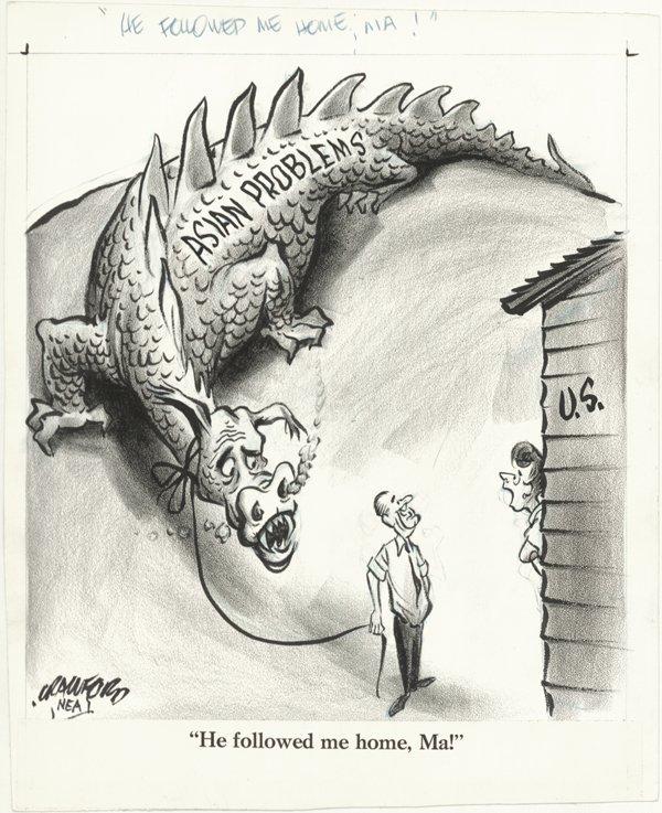 2: 3 Crawford & Seavey cartoons original comic art