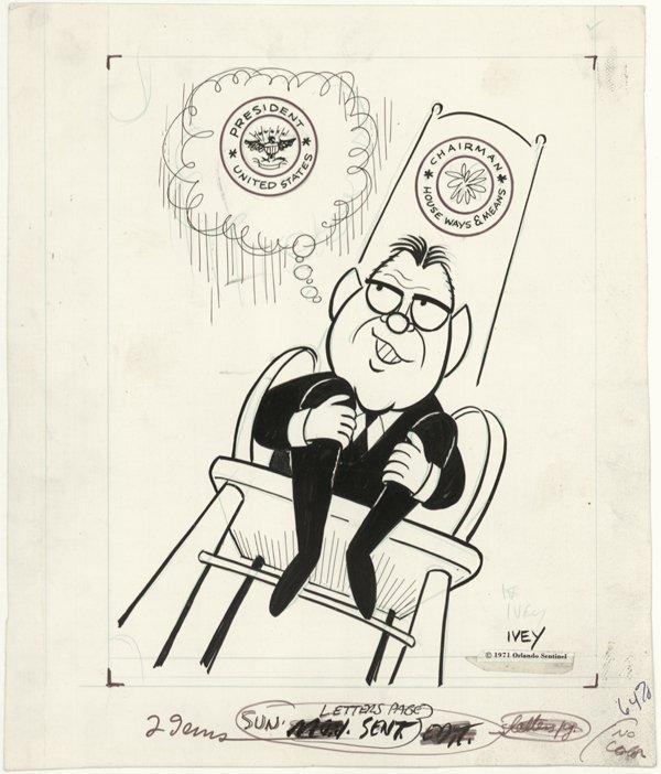 4: 4 Ivey / Lane / Pauer cartoons original comic art