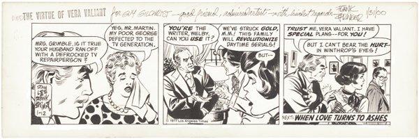 7: Springer Virtue of Vera Valiant original comic art