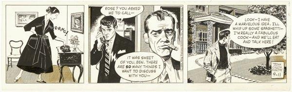 10: Murphy Big Ben Bolt daily 1959 original comic art