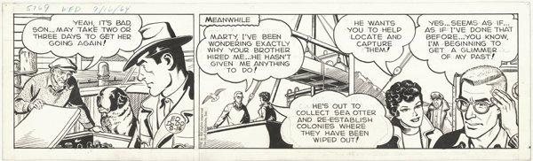 11: Dodd Mark Trail daily 9/16/64 original comic art