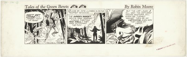 12: Kubert Tales of Green Beret d original comic art