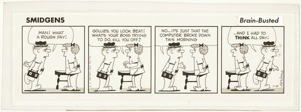 15: 3 Cordray / Turner dailies original comic art