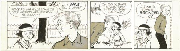 16: 3 Formhals / Coker dailies original comic art