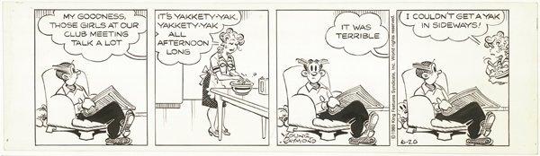 18: Young / Raymond 2 Blondie 1980 original comic art