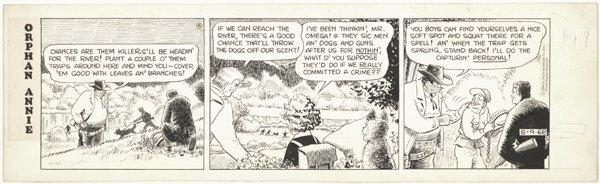 20: Blaisdell Little Orphan Annie d original comic art